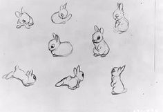 Grey Rabbits Tattoos Sheet