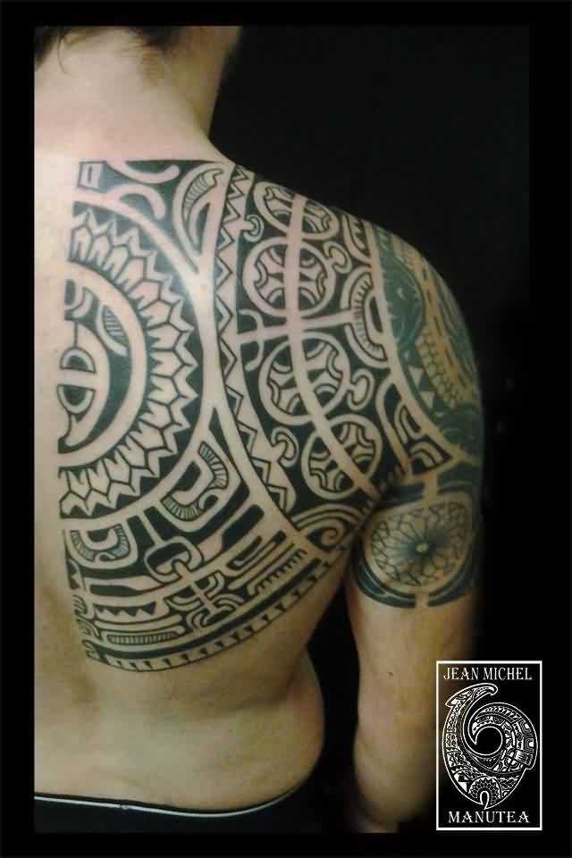 Half Back Polynesian Tattoos