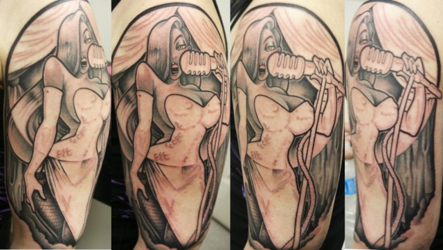 Half Sleeve Jessica Rabbit Tattoos