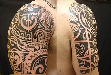 Half Sleeve Polynesian Tattoos