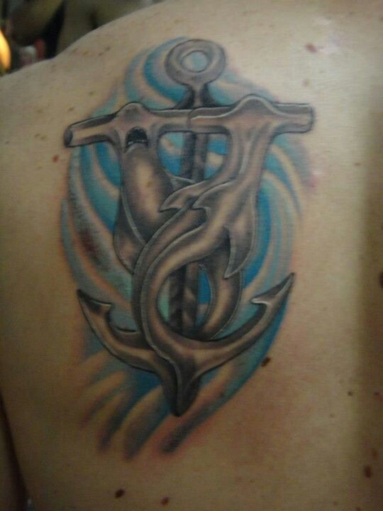 Hammerhead Shark And Anchor Tattoos