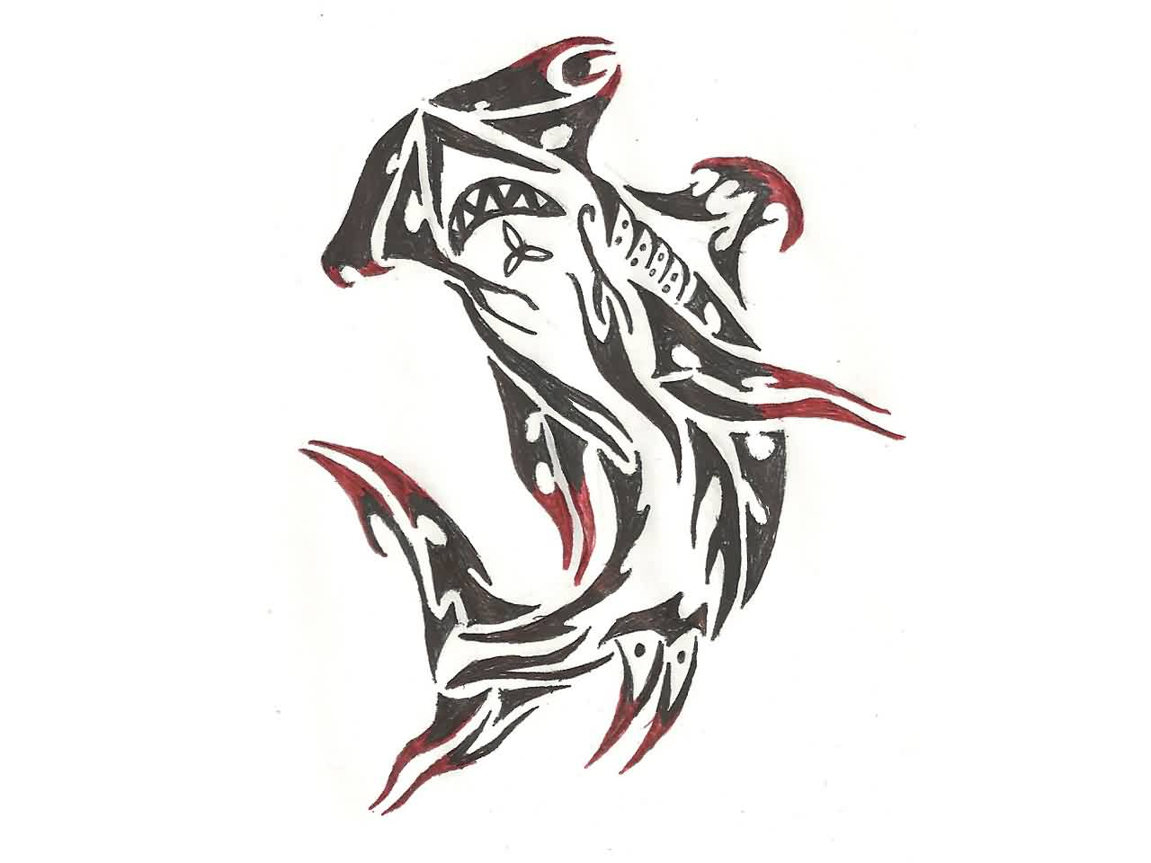 Hammerhead Shark Tattoo Sketch