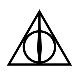 Harry Potter Deathly Hallows Triangle Tattoo Model