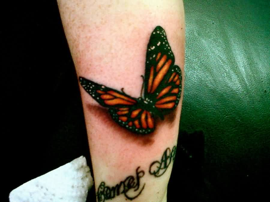 Have A 3D Butterfly Tattoo!