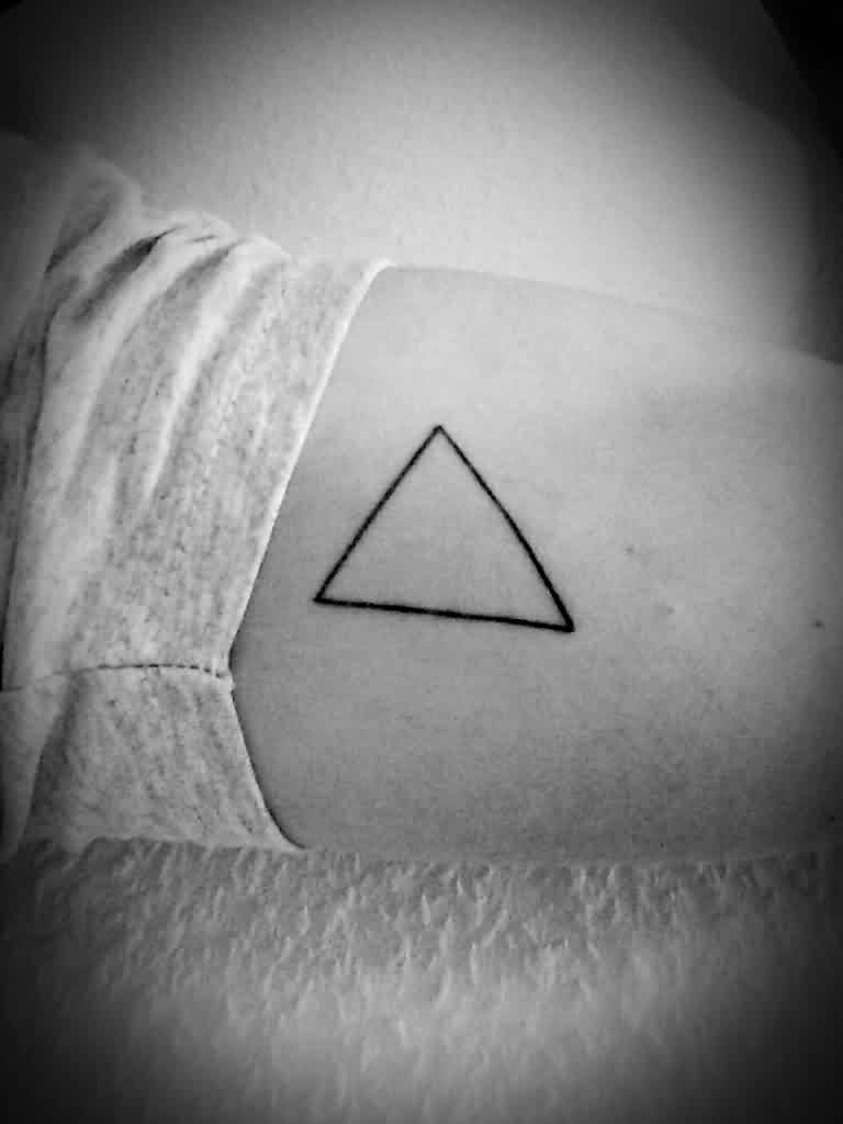 Have An Outline Triangle Tattoo!