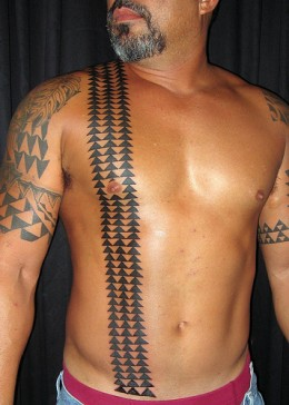 Hawaiian Triangle Tattoos On Body For Men