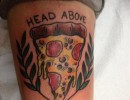 Head Above - Pizza Tattoo