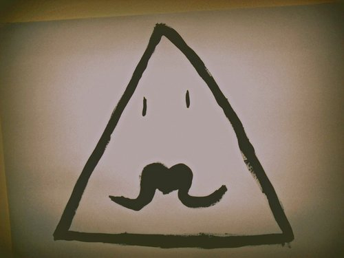 Hipster Triangle Tattoo Print