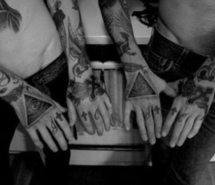 Hipsters Triangle Tattoos On Hand