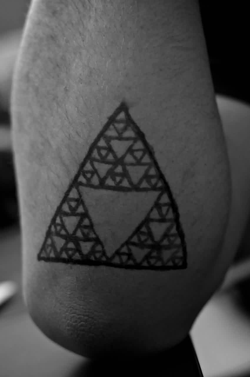 Homemade Triangle Tattoo