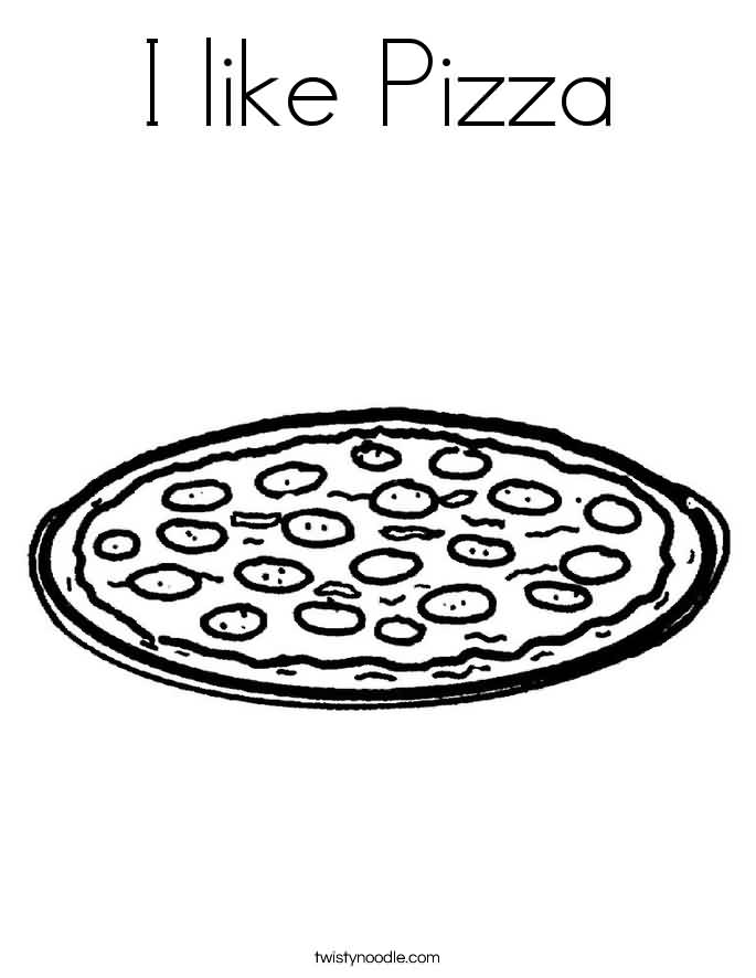 I Like Pizza Tattoo Design