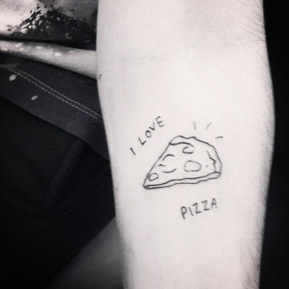 I Love Pizza Tattoo