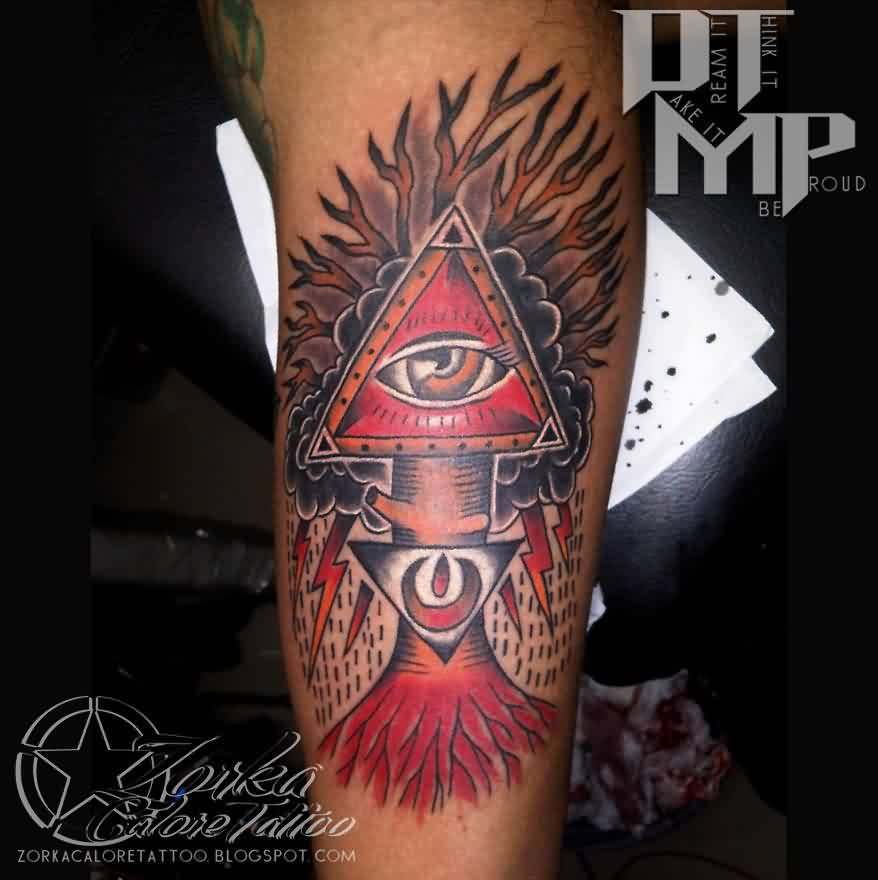 Illuminati Triangle Tattoo