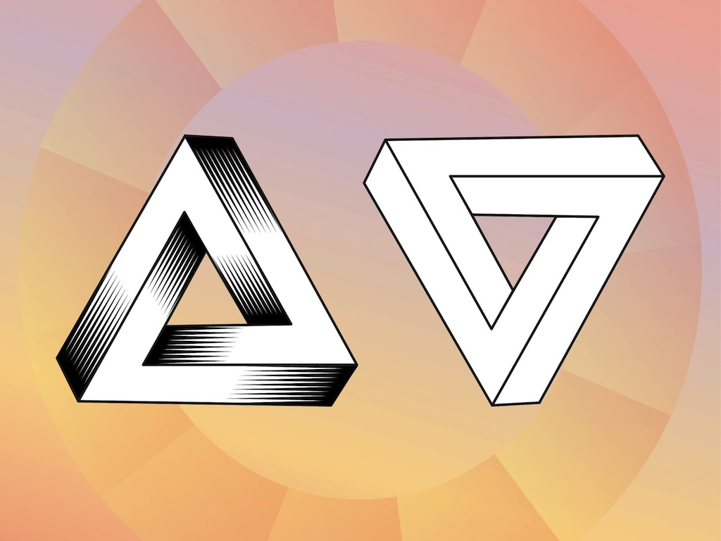 Impossible Triangles Tattoo Designs