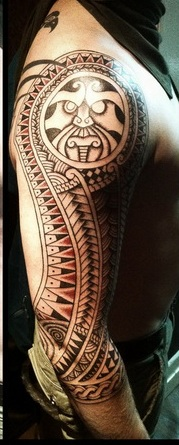 Impressive Maori Polynesian Tattoos On Sleeve