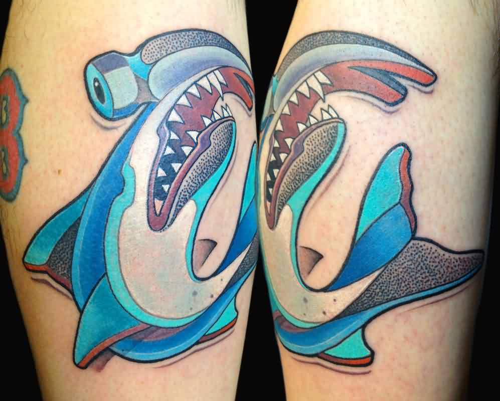 Incredible Hammerhead Shark Tattoos
