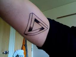 Inner Arm Penrose Triangle Tattoo For Guys