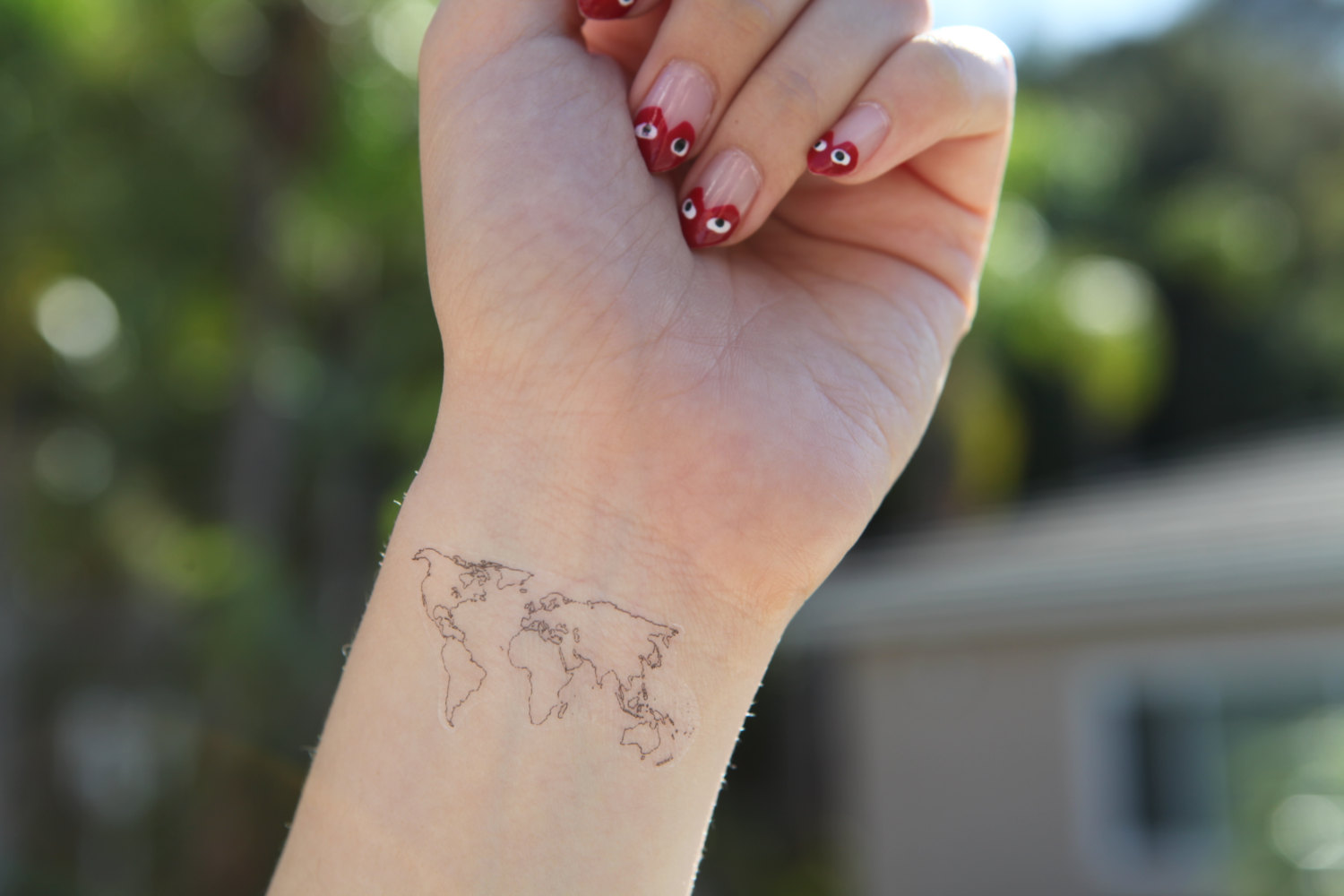 Inner Wrist Map Tattoo