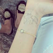 Inner Wrist Map Tattoo Trend For Girls