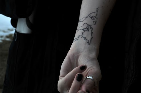 Inner Wrist Map Tattoos