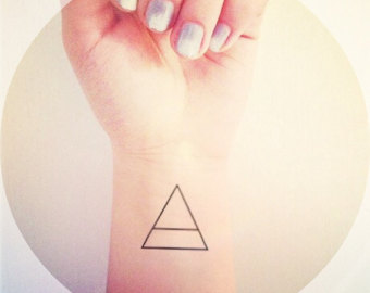 Inner Wrist Triangle Tattoo For Girls