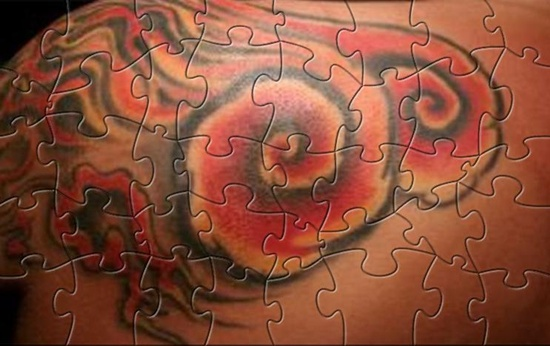Interesting Color 3D Puzzle Tattoos