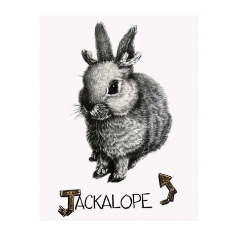 Jackalope Rabbit Tattoo Flash