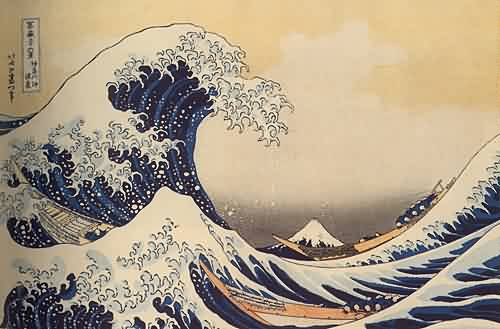 Japanese Wave Tattoo Print