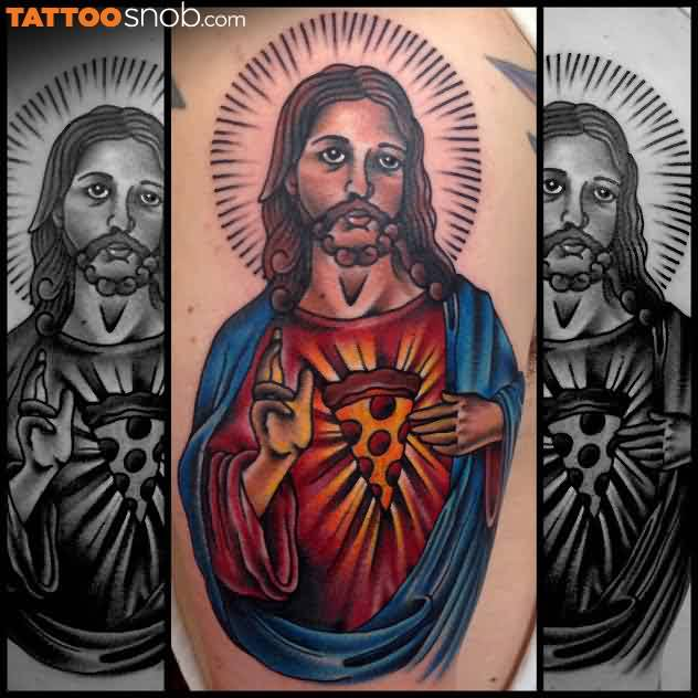 Jesus Pizza Tattoo