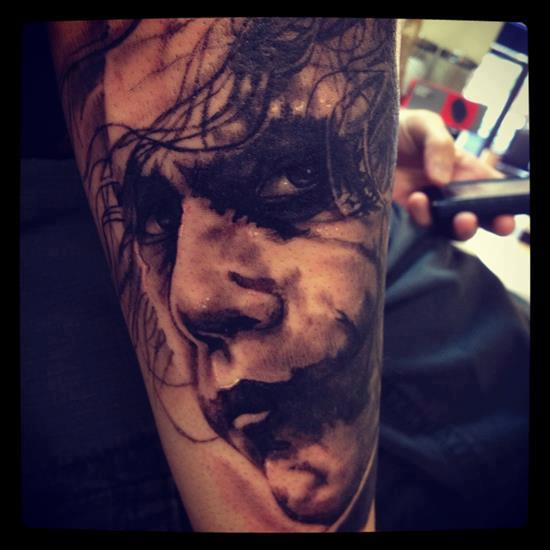 Joker Face 3D Tattoo Photo
