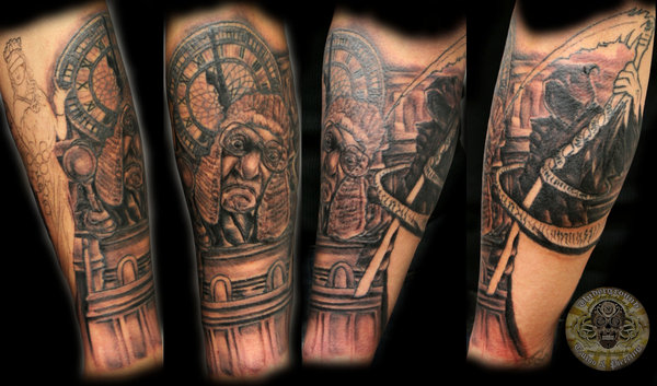 Judge Clock Reaper Tattoos