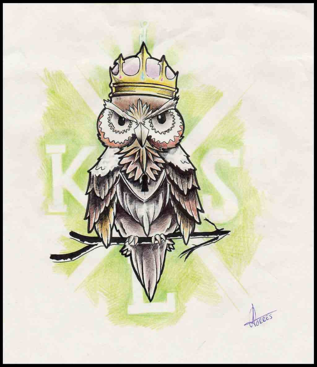 King Owl Tattoo Photo