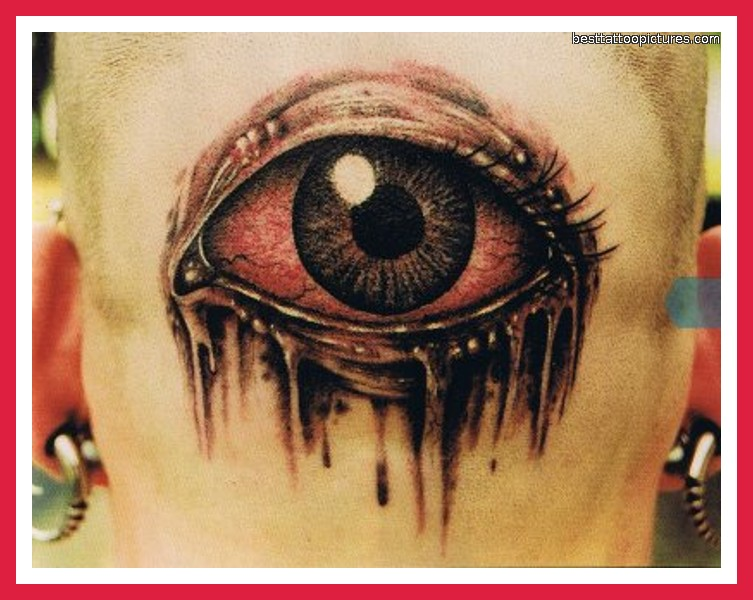 Large 3D Open Eye Tattoo Photo