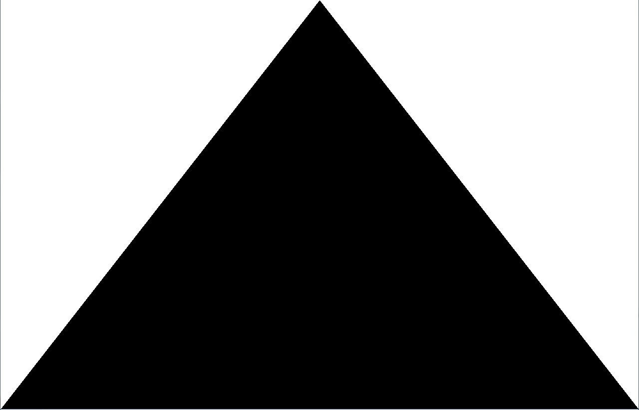 Large Solid Black Ink Triangle Tattoo Design