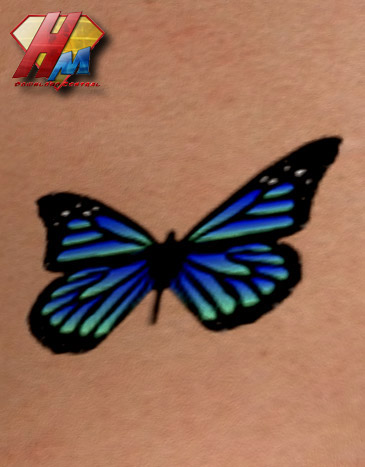 Latest 3D Butterfly Tattoo Print