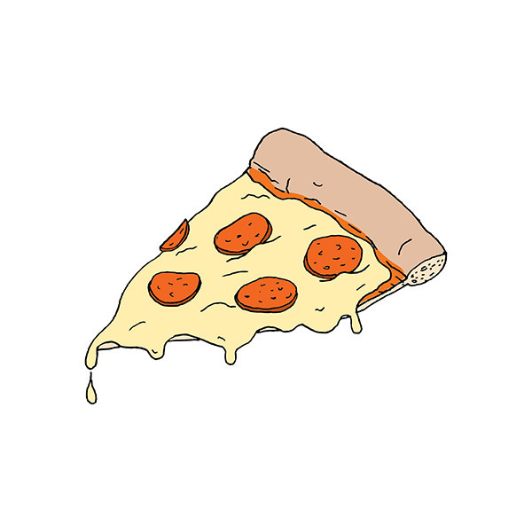 Latest Melting Pizza Slice Tattoo Design