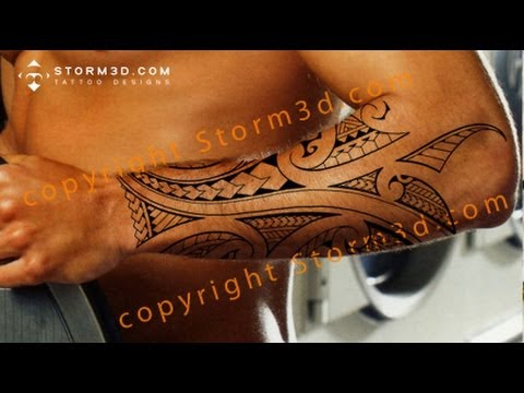 Latest Polynesian Arm Tattoo Style For Men