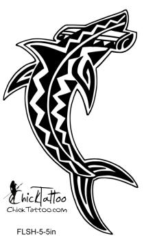 Latest Tribal Hammerhead Shark Tattoo Model