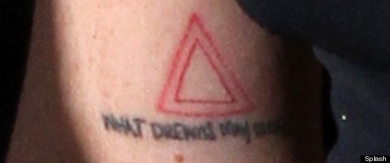 Lindsay Lohan's Triangle Tattoo