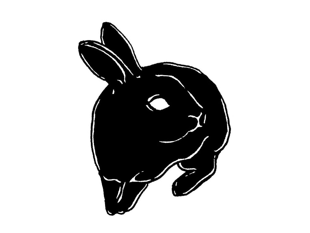 Little Black Rabbit Tattoo Design
