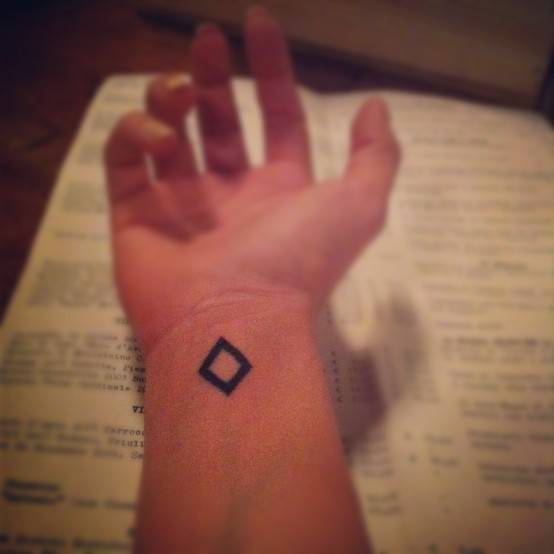 Little Size Triangle Tattoo On Wrist