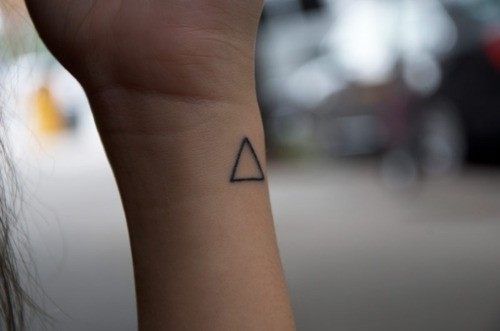 Little Triangle Tattoo On The Wrist