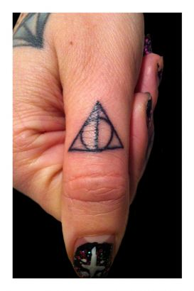 Little Triangle Tattoo On Thumb