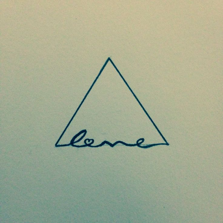 Love Triangle Tattoo Design