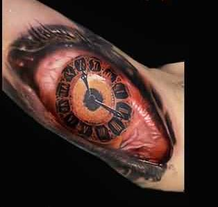 Majestic Clock Eye Tattoo For Men