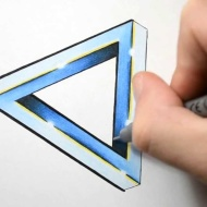 Making Triangle Tattoo Design With Pen
