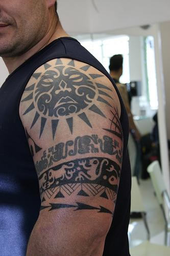 Man With Polynesian And Hawaiian Tattoos