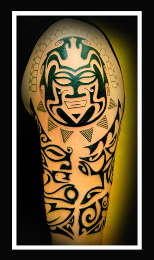 Maori And Polynesian Half Sleeve Tattoos Photo
