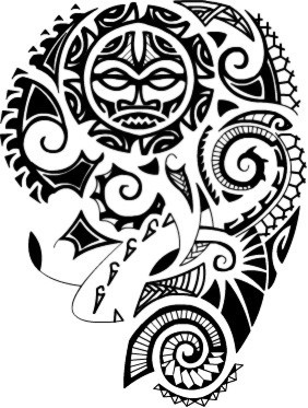 Maori Polynesian Tattoo Design For Shoulder