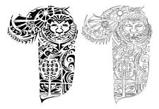 Maori Polynesian Half Sleeve Tattoo Designs